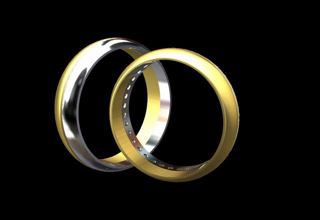 aaebaf455b86 Anillos de matrimonio oro blanco y amarillo con zircones - Reyes Arte y  Joyas - Video - Matrimonio.com.co