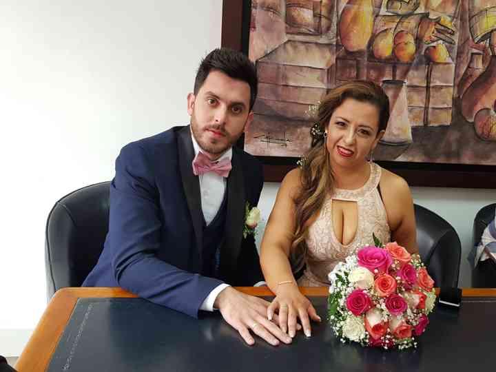 El matrimonio de Patricia y Óscar