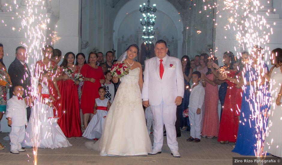 El matrimonio de Darwin y Faizulay en Ciénaga, Magdalena