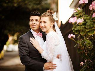 El matrimonio de Yevgeniya y John