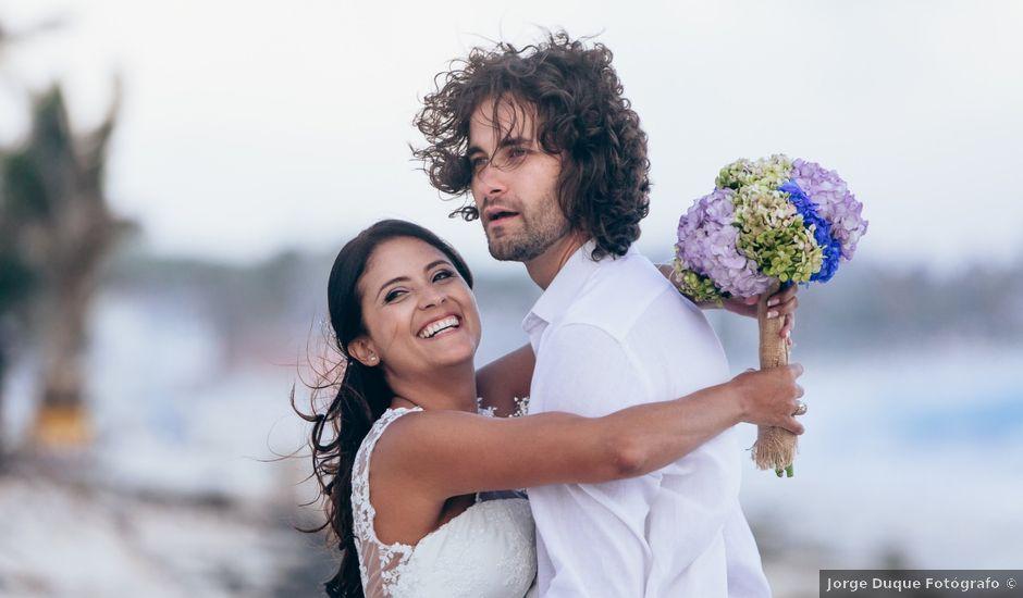 El matrimonio de Dario y Biviana en San Andrés, Archipiélago de San Andrés