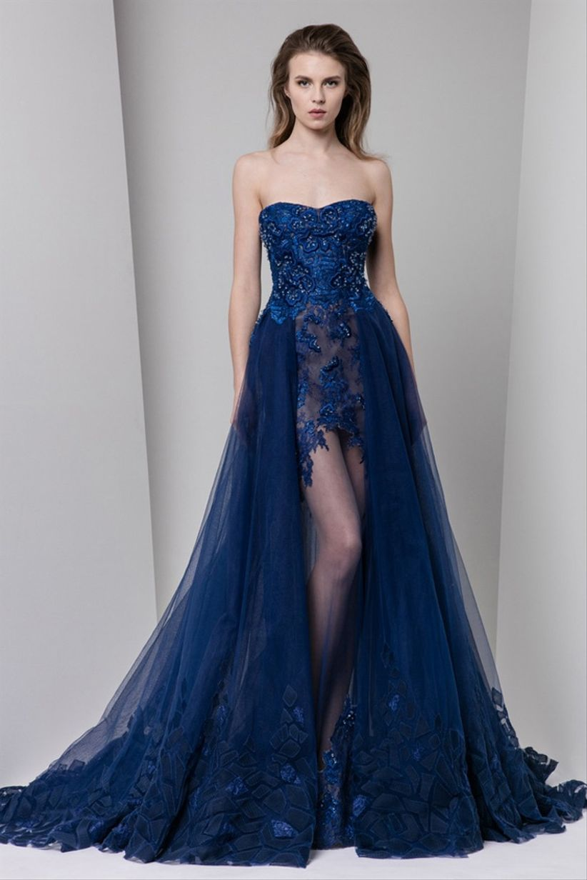 Vestidos Elegantes Azul Rey Nueva Moda Mundial 2019