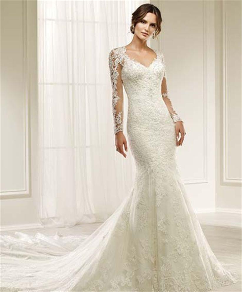 8fc027a17fd88 Vestidos de novia manga larga