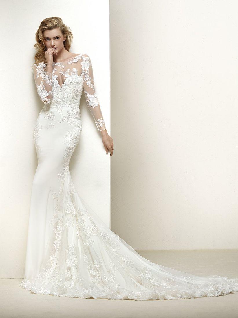 Vestidos de novia sencillos con manga larga