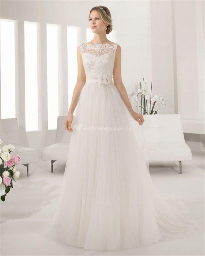 vestidos de novia escote ilusion