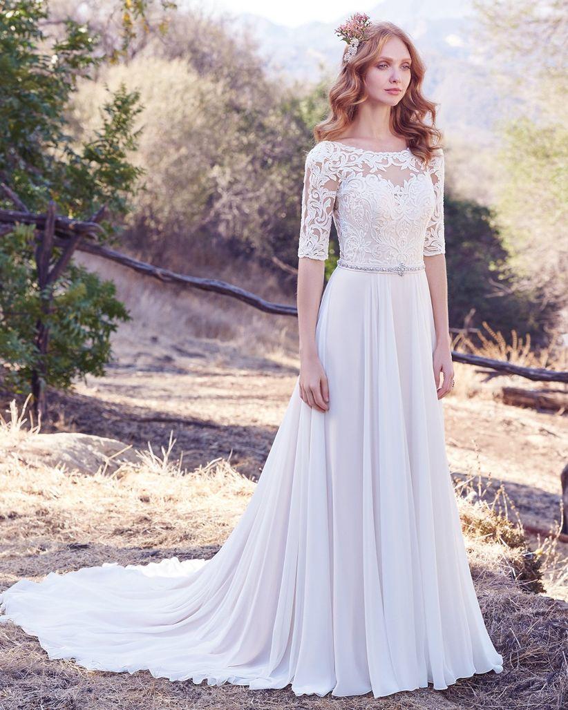 Vestidos para boda civil con manga