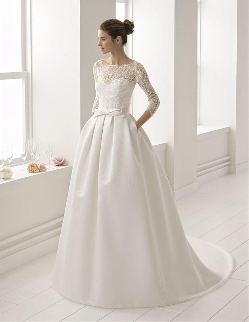 Vestidos de manga larga para boda civil