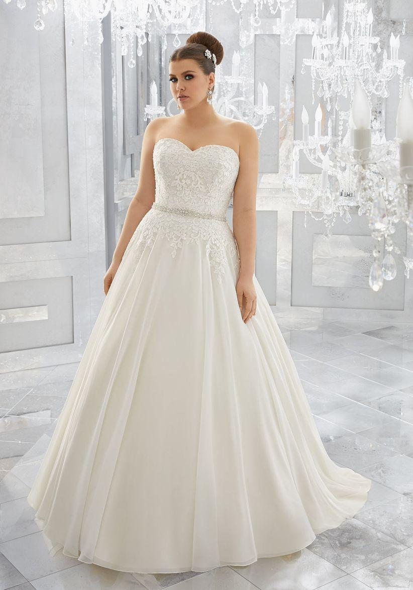 ce844b7d1 Vestidos de novia para gorditas  los 60 modelos más encantadores