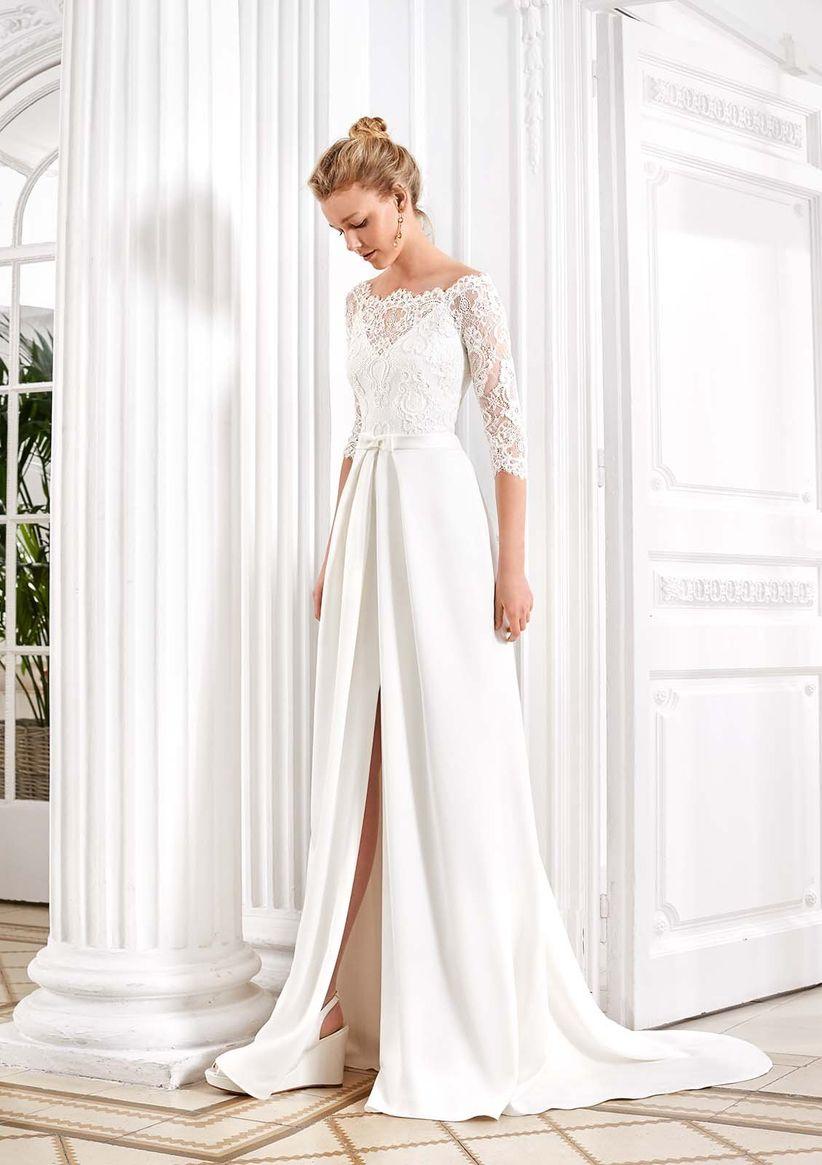 a7b50ef88 Vestidos de novia con manga tres cuartos