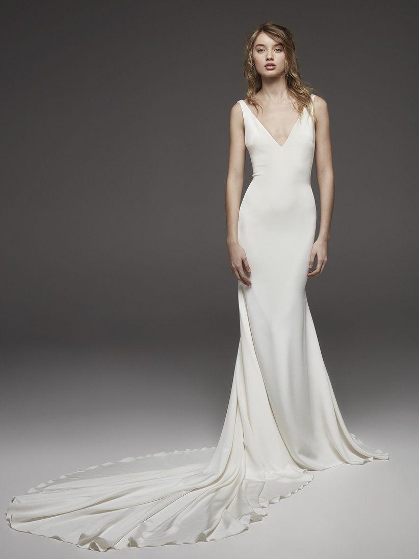 2fab053d00 Vestidos de novia sencillos  45 diseños románticos y elegantes