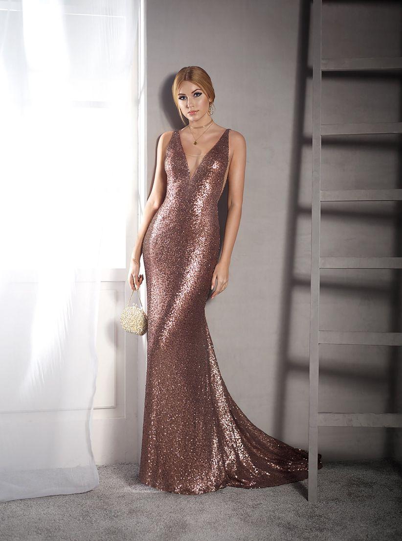 Vestidos de noche largos colores claros