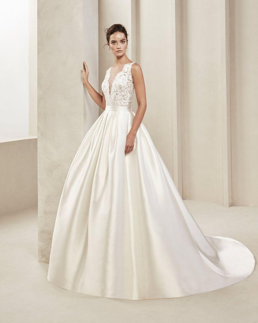 Qué tipos de telas se usan para los vestidos de novia?