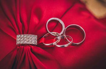 17 hermosas opciones para llevar tus argollas de boda