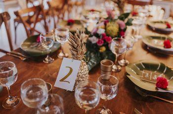Marcar las mesas ¿con nombres o números?