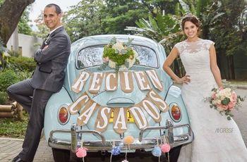 La decoración del carro del matrimonio