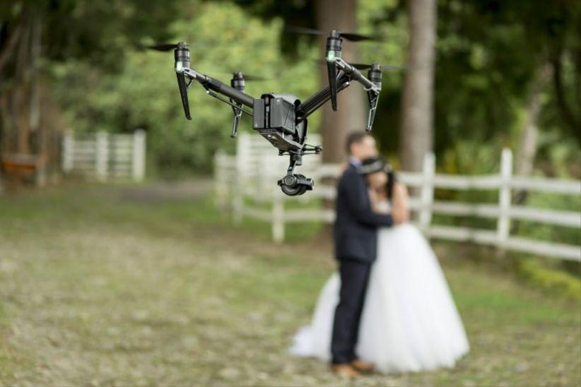 grabar boda con drone