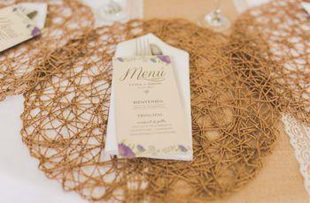 5 ideas para presentar el menú de tu matrimonio