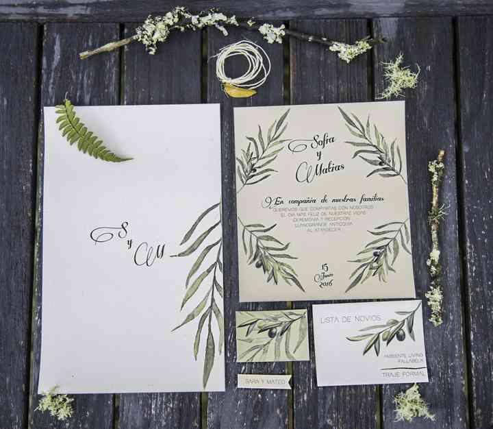tarjetas de matrimonio tropical