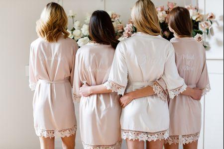 Bata para novia: una prenda que hace honor a la comodidad