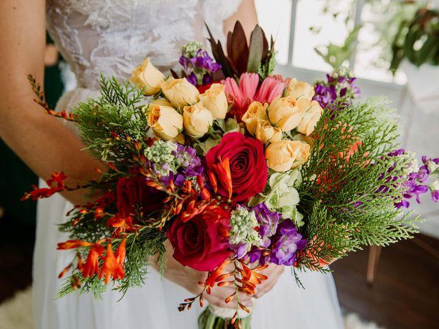 Flores colombianas en el ramo de novia