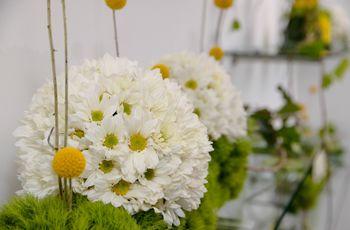 Topiarios y esferas: Usa las flores de tu boda de una manera diferente