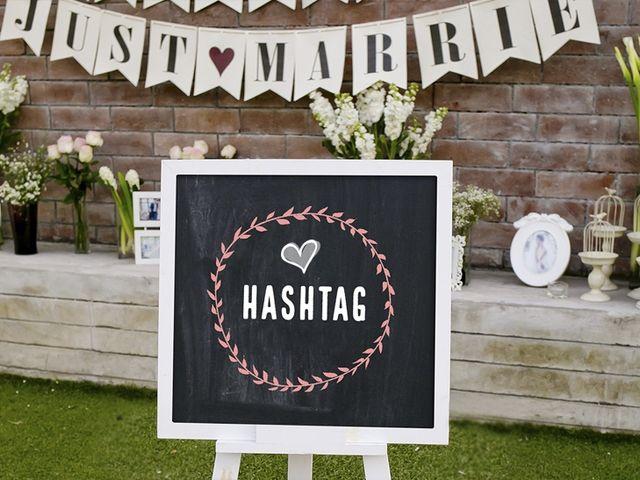 Compartan detalles de su celebración a través de un 'hashtag' personalizado