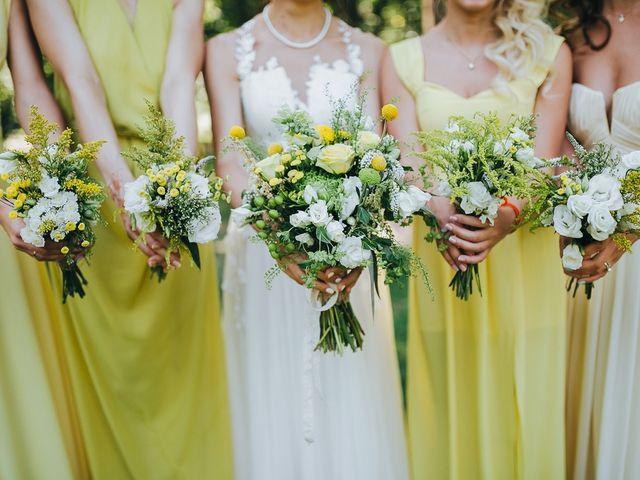 Los ramos de flores para damas de honor