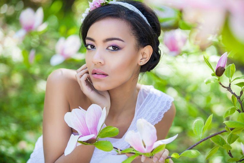 Maquillaje ideal para novias de piel morena