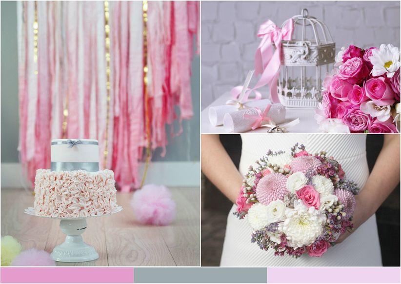 10 combinaciones de colores para inspirar tu boda - Decoraciones en color plata ...