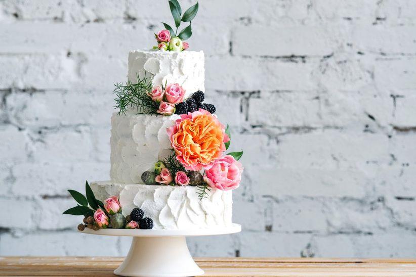 Decoracion De Tortas Para Matrimonio Con Flores Naturales