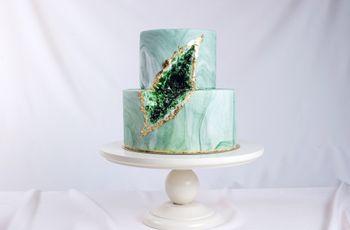 ¿Qué son las tortas de matrimonio con estilo geoda?