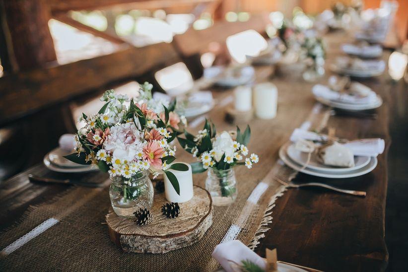 Ideas Para Matrimonio Rustico : Ideas de decoración con estilo rústico para las mesas