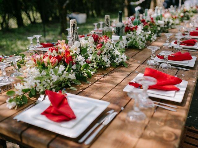Matrimonio con tonos rojos