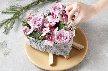 Centro de mesa con flores y hecho por ti ¡tutorial paso a paso!