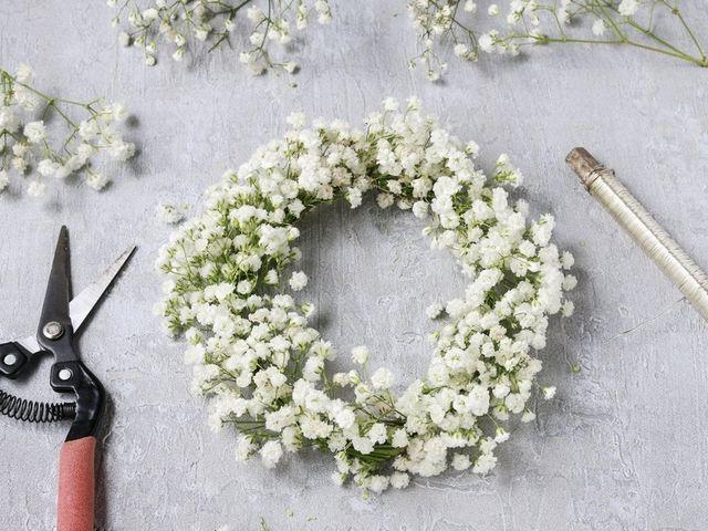 DIY: corona de flores hecha en casa