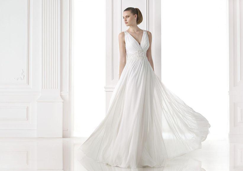 3ad3584d7 Esta colección es para las novias más románticas donde predomina el corte  princesa