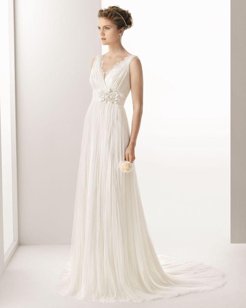 Vestido de la recepción de la boda