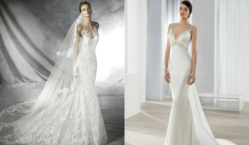 Telas blancas para vestidos