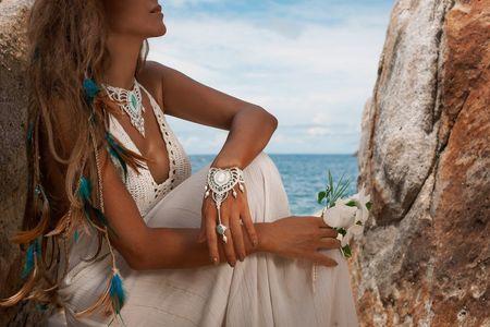 Look de novia para matrimonios en la playa