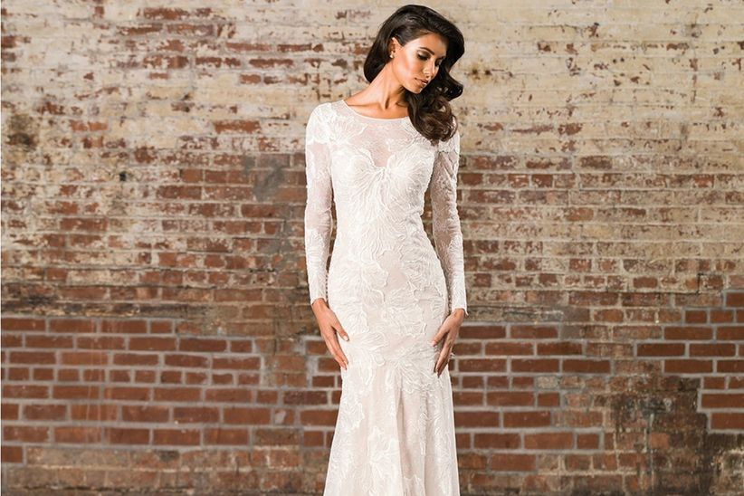 Peinados para vestidos de novia manga larga