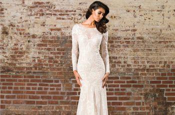 Vestidos de novia con manga, una opción glamurosa