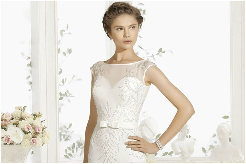 Sonar vestido de novia morado