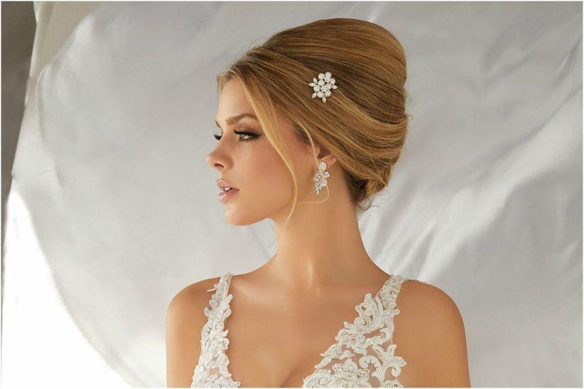 Peinados de novia altos