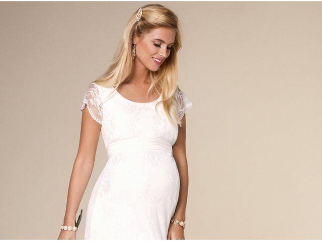 Vestidos de novia para embarazadas: una dulce espera con mucha comodidad