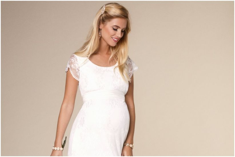 Imagenes de vestidos de novia para embarazadas
