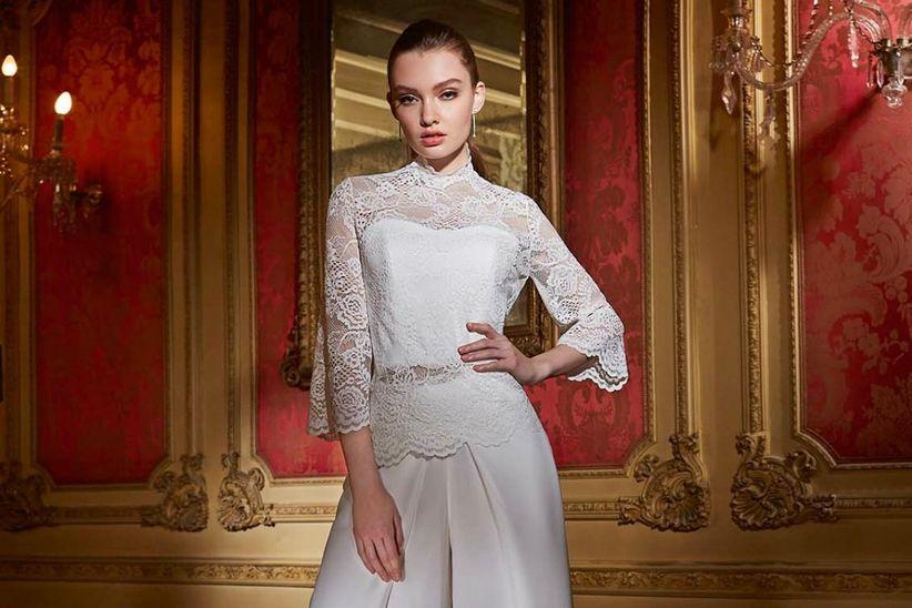 16f79446f Opciones de vestidos de dos piezas para novias únicas