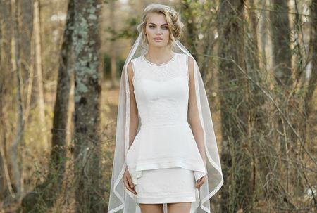 Vestidos de novia cortos: 20 diseños sensacionales