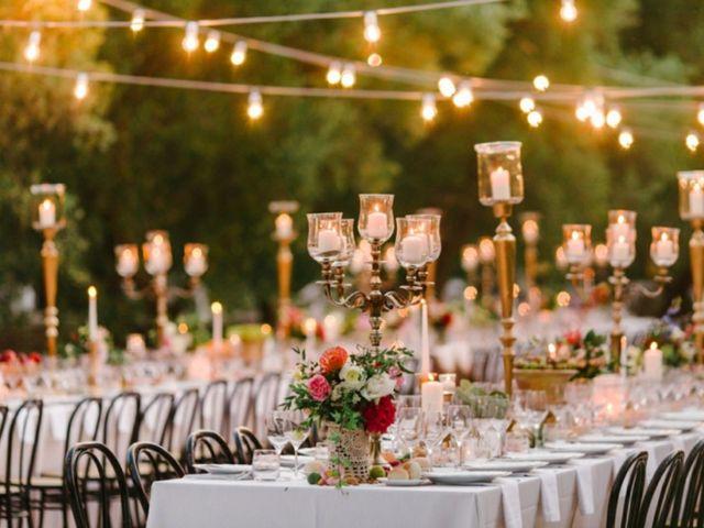 Velas para decorar las mesas o la recepción de boda