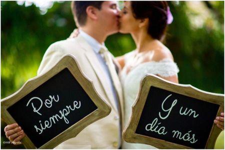 Frases para decorar cada rincón el día del matrimonio