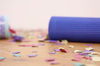 ¡Lancen confeti para la boda hecho por ustedes!